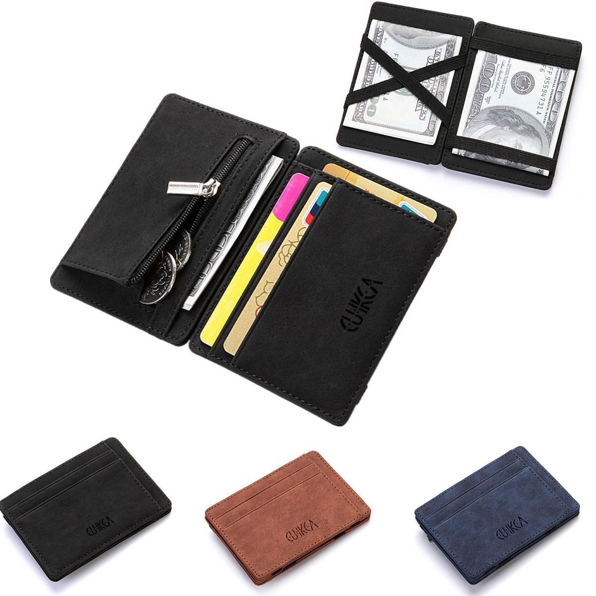 【Free Shipping + Flash Deal】Men Slim Billfold Wallet PU Leather Credit Card Holder