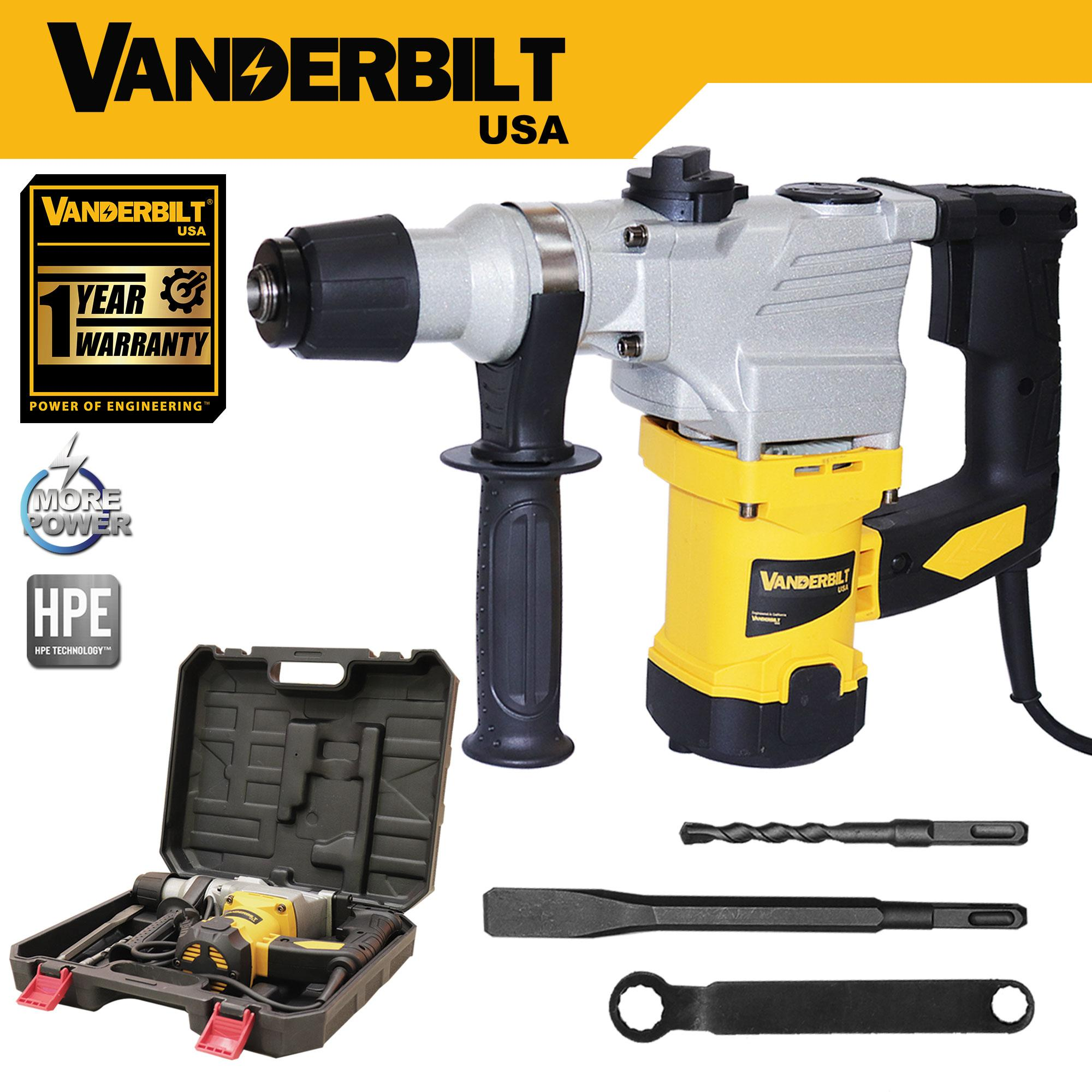 Professional Power Tools 1650W 220V Rotary Hammer Drill, Chipping Gun Vanderbilt USA Philippines