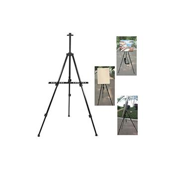 Painting Stand Aluminum Foldable Easel Black Canvas Stand By Gold Mind.