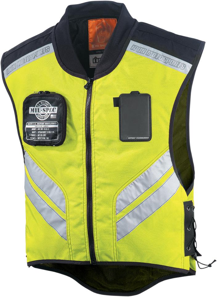 Icon Mil-Spec Riding Vest For Motorcycle Rider By Luke North.