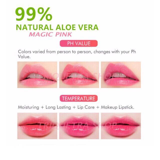 Whole Natural Aloe Essence Moisturizing Lipstick Changing Color Magic Sweet Baby Pink Lips Balm Gloss Makeup Women Cosmetics In From Beauty