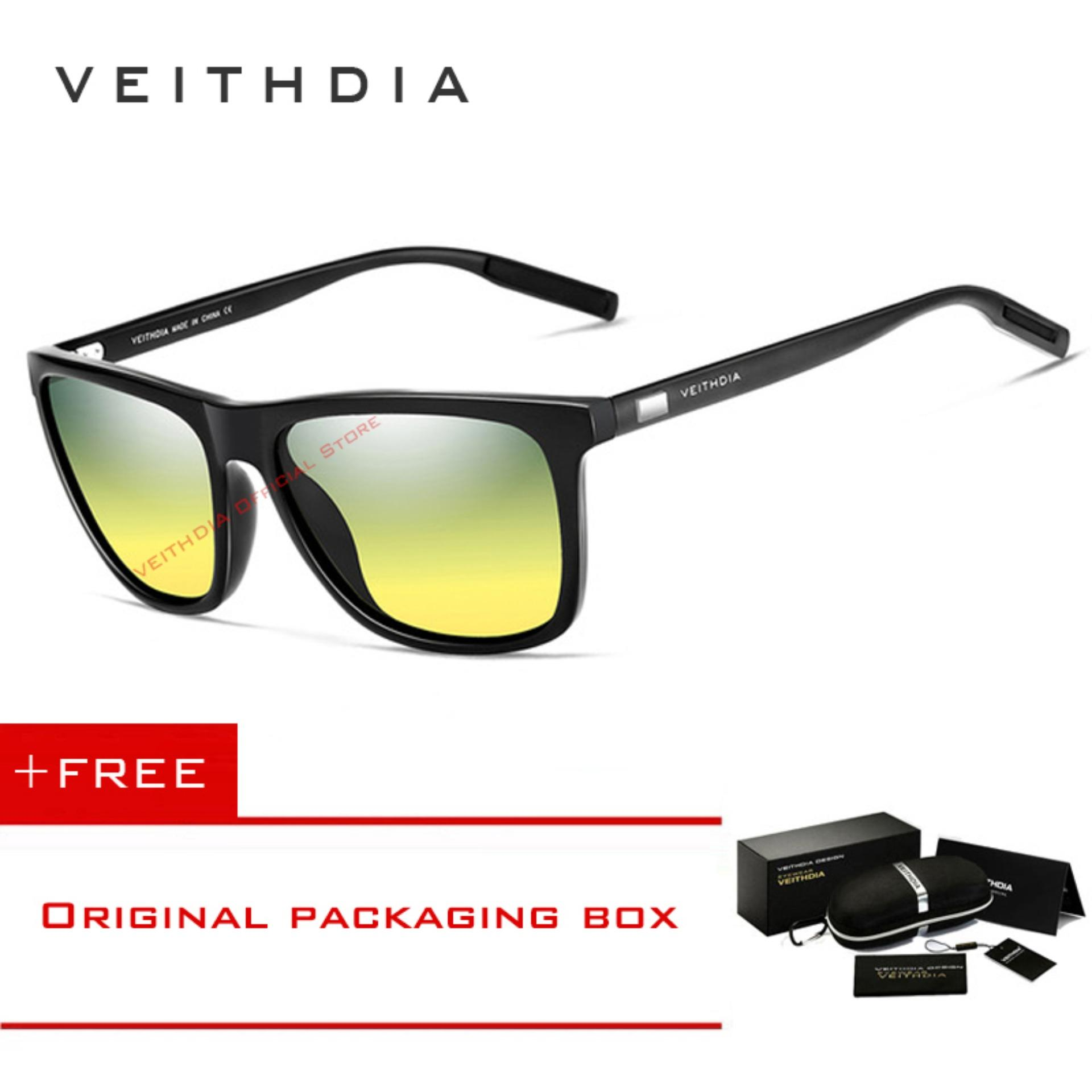 cd59d60784d VEITHDIA Unisex Aluminum+TR90 Sunglasses Polarized Lens Vintage Eyewear  Accessories Sun Glasses For Men