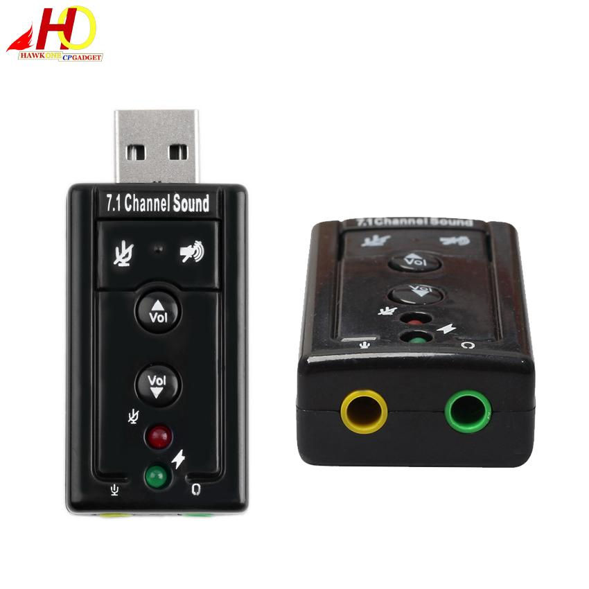 Usb External 7.1 Channel Ch Virtual Audio Sound Card Adapter (black) By Hawkonecp Gadget.