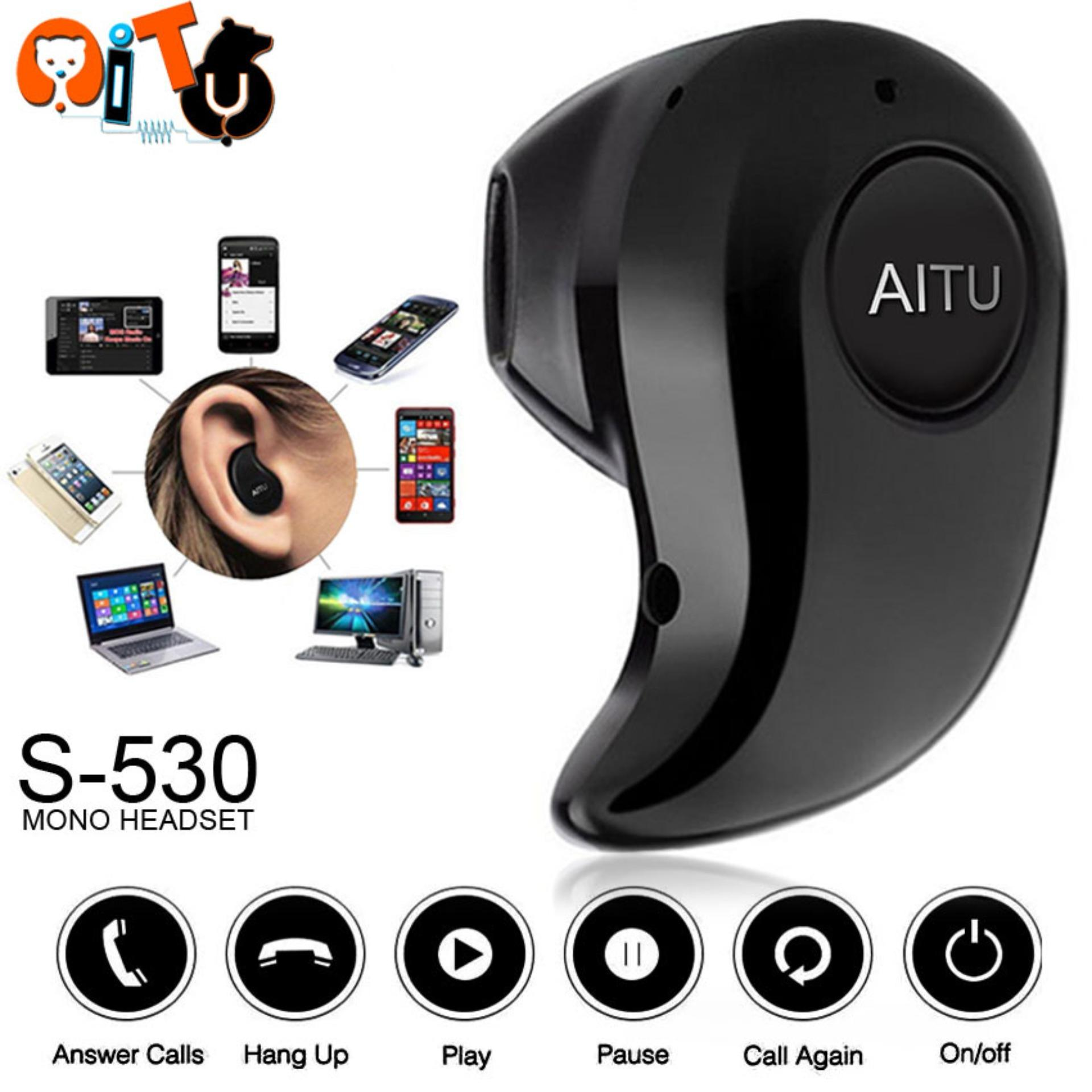 AITU Mini Ultra-small Wireless Smart Bluetooth Headset V4.1 For Android/IOS