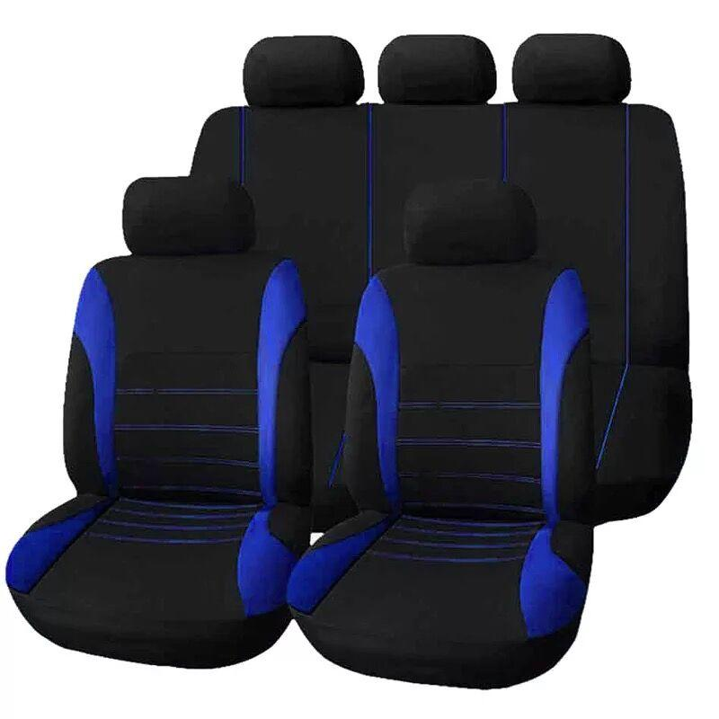 Universal Car Seat Cover Set 9Pcs Seat Covers Front Seat Back Seat Headrest  Cover cafcb1cd7