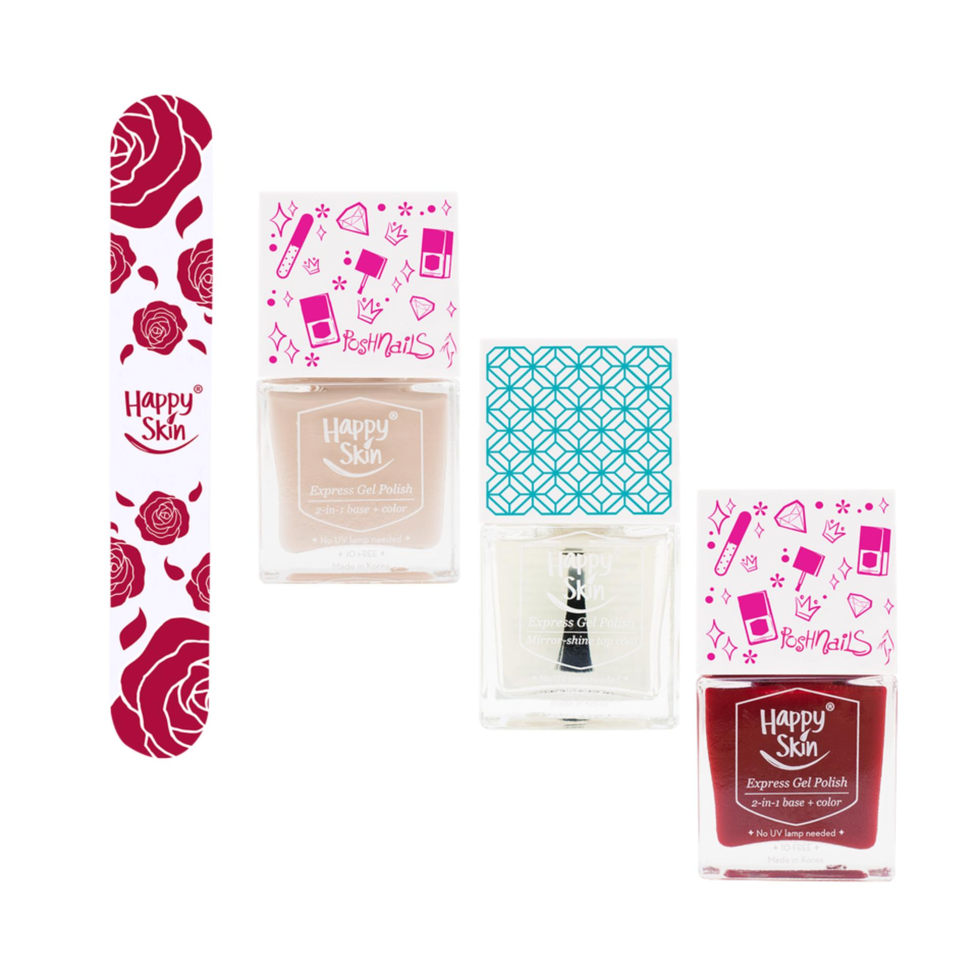 Happy Skin x Posh Nails Express Gel Polish Exclusive Set - Luxe & TLC Philippines