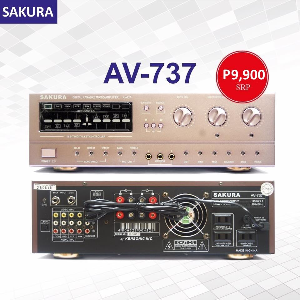 Sakura Philippines Price List Karaoke Mp3 Mixing How To Build Speach Amplifier Av 737 1400w X 2 Stereo Echo