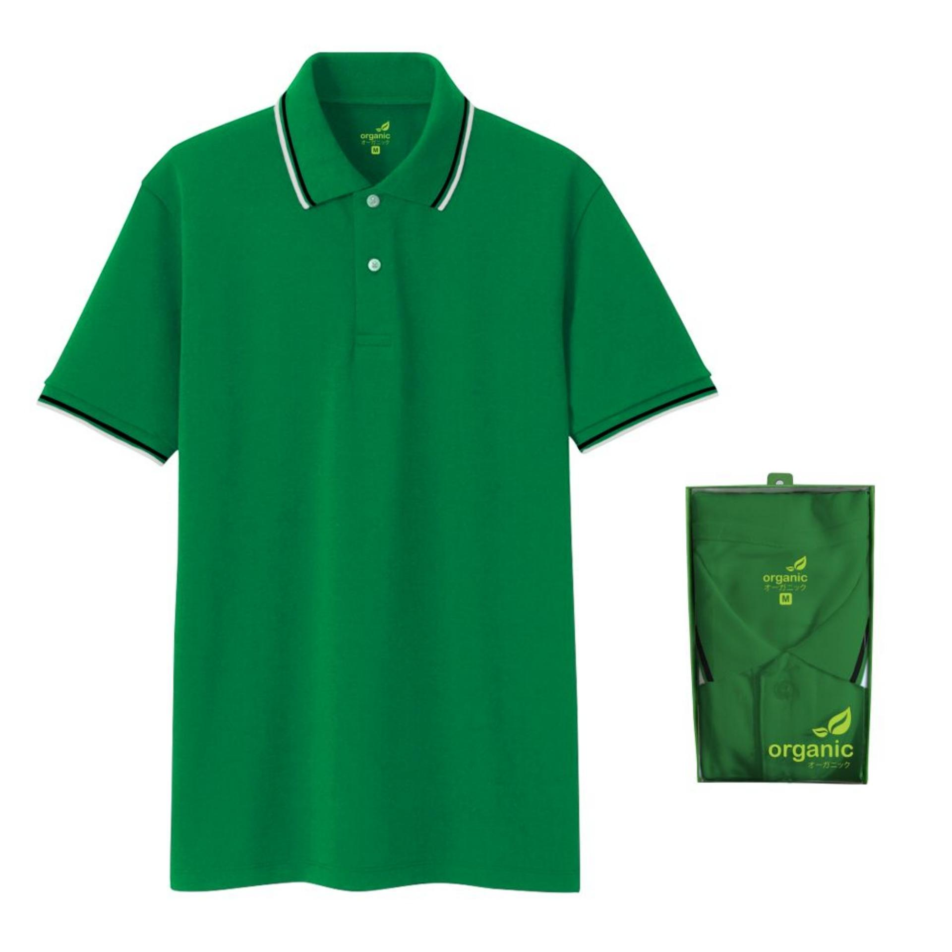Organic Lined Plain Polo Shirt Mens