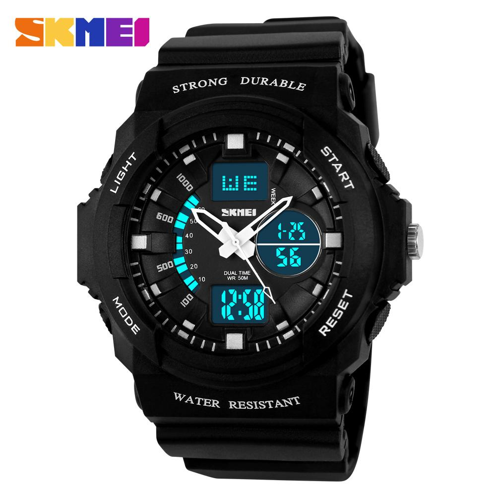 0d4b92486d37 SKMEI 0955 Double Display Men Outdoor Sports Hiking Waterproof LED  Multi-function Watch