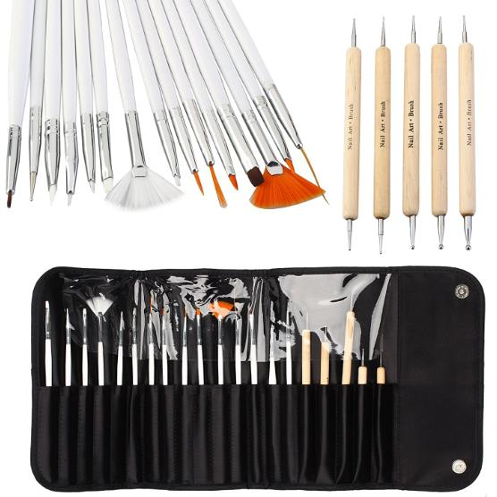 20pcs Nail Art Designing Painting Dotting Detailing Pen Brushes Bundle Tool Kit Philippines