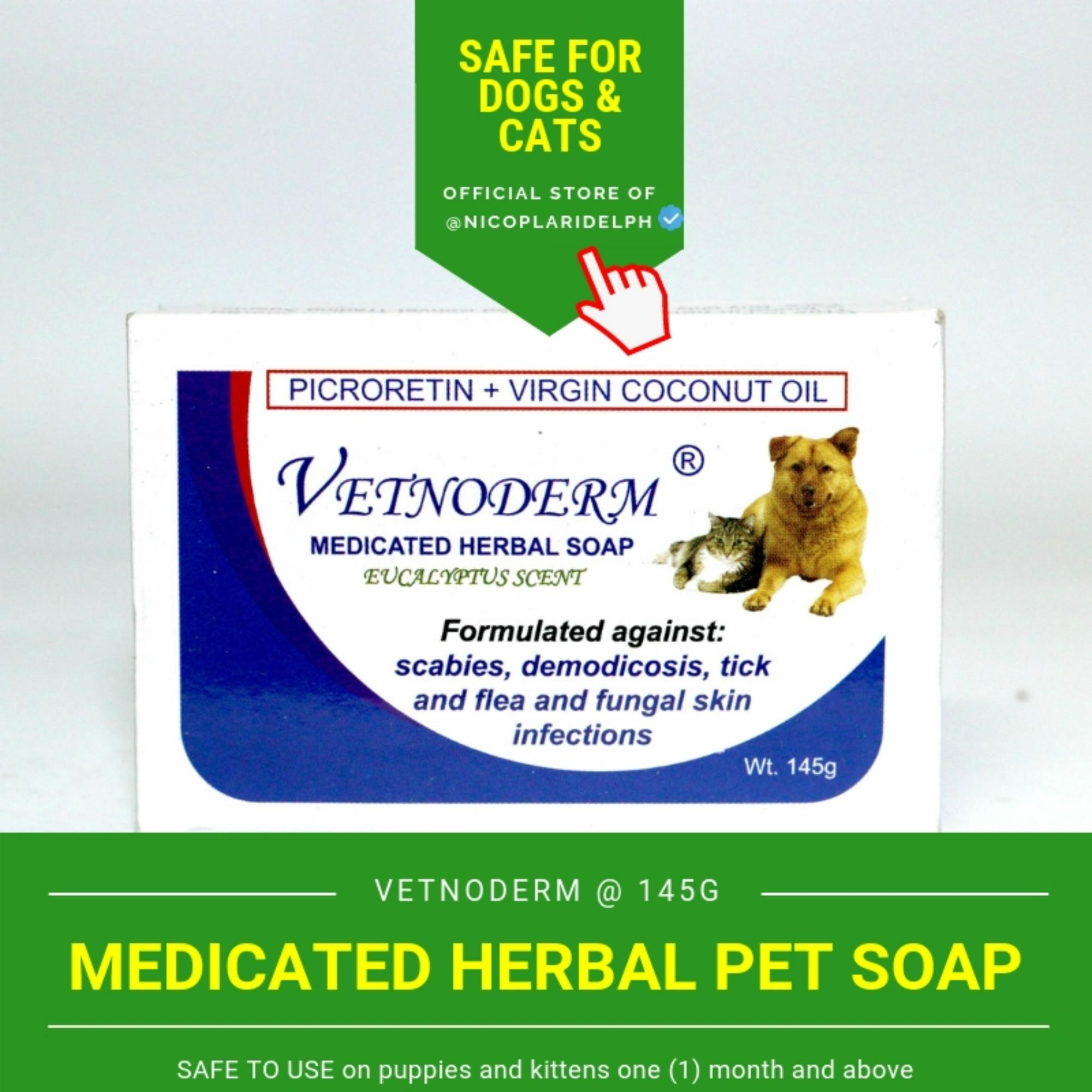 Vetnoderm Medicated Herbal Soap For Dogs And Cats (145g) By Nicoplaridelph.