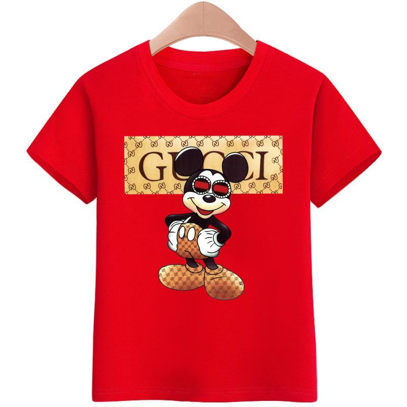 T Shirt Boys Girls Cartoon Pattern Children Summer Short Sleeves