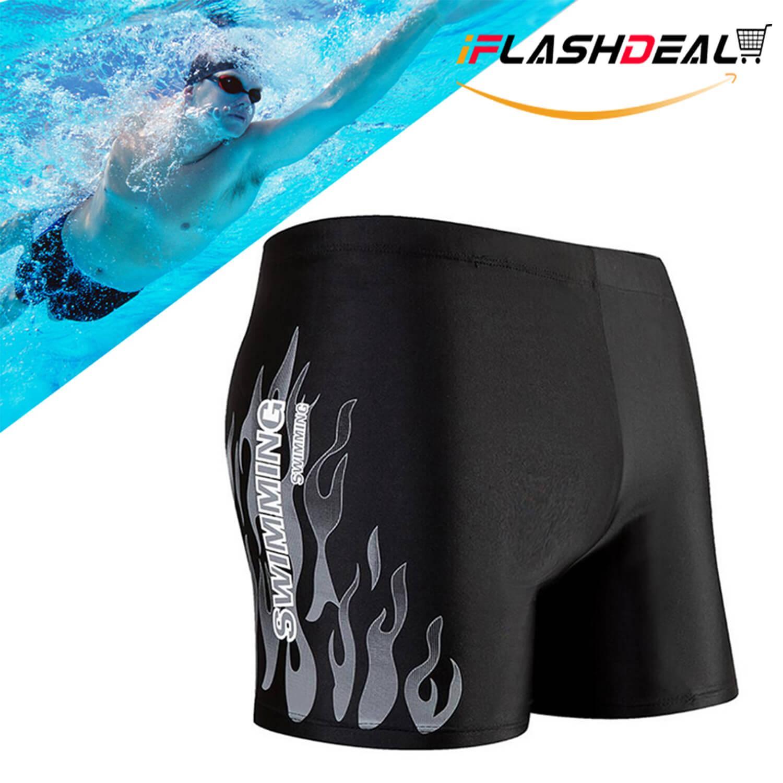 9507d5f82d iFlashDeal Swimming Pants Mens Swim Shorts Pants Swimwear Shorts Slim Wear  Swimsuit