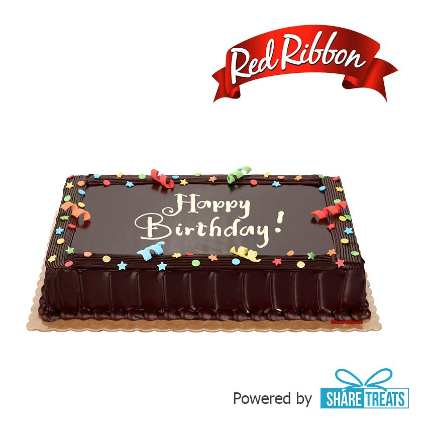 Red Ribbon Chocolate Dedication Cake Reg (sms Evoucher) By Share Treats.