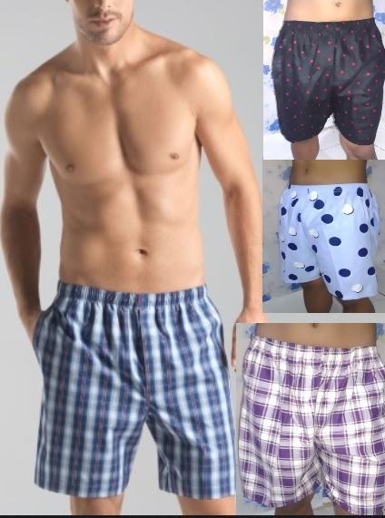 Cueca Sleepwear Underwear Boxer Shorts Knee Cut Set Of 3 By Daisymall.