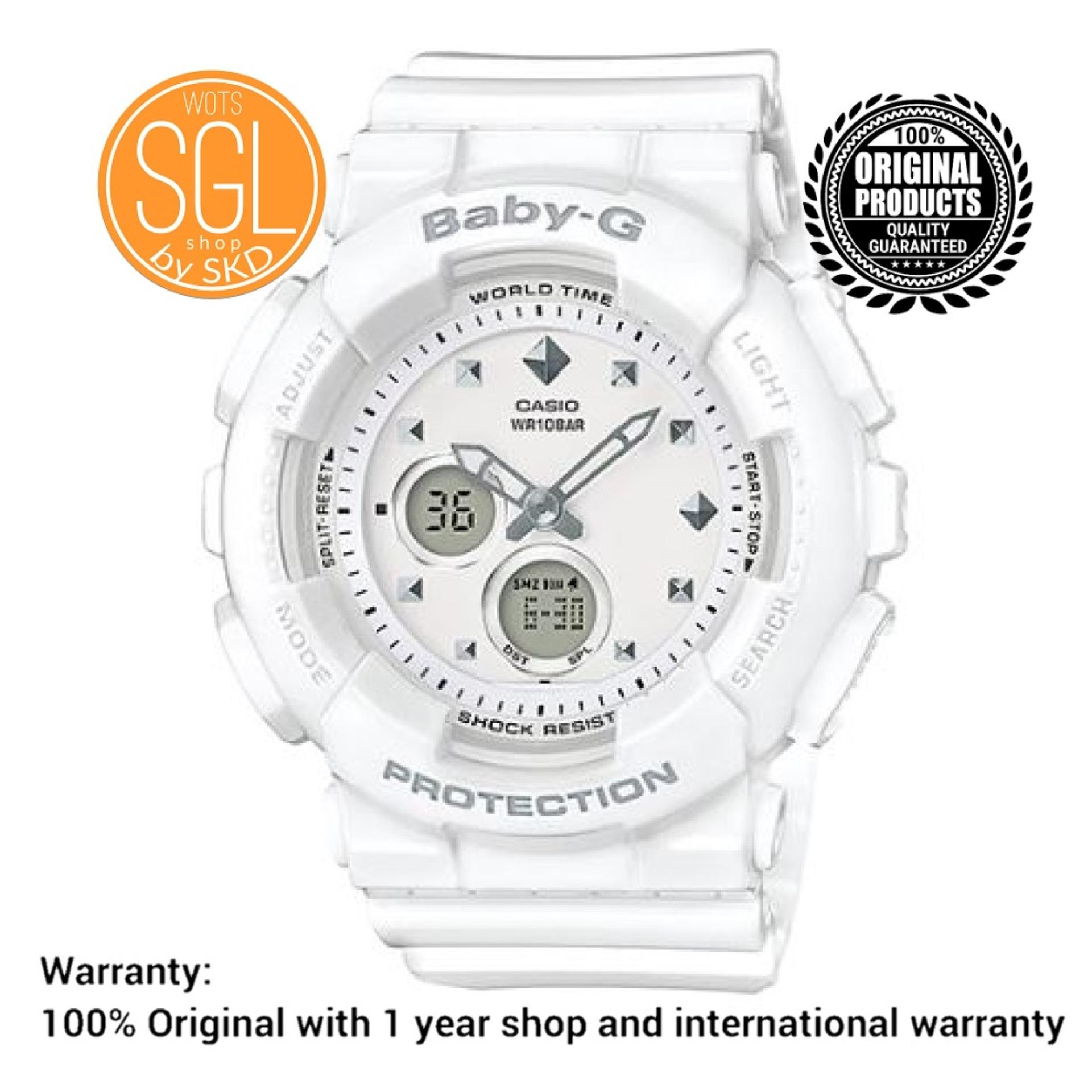 Casio Baby G Watches For Women Philippines Womens Ba 110tx 4a Original White With Studs Details Analog Watch Ba125 7 Sgl Wots Shop