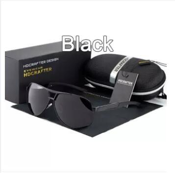 7ac1775894 HDCRAFTER 2017 Men s Brand Designer Sunglasses UV400 Polarized Eyewear  Aviator Sun Glasses for Men oculos de