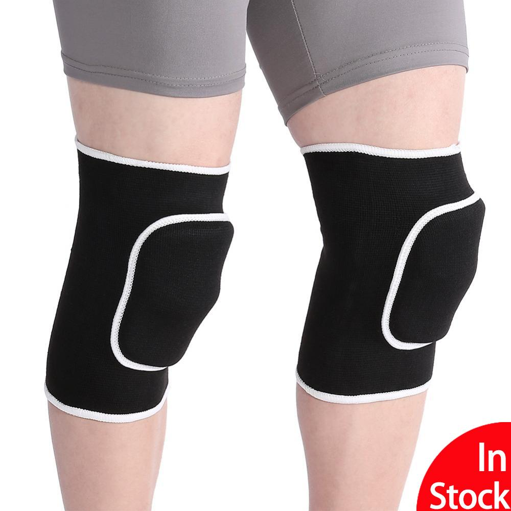 2PCS/Pair Fitness Running Cycling Knee Support Braces Elastic Nylon Sport Compression Knee Pad Sleeve