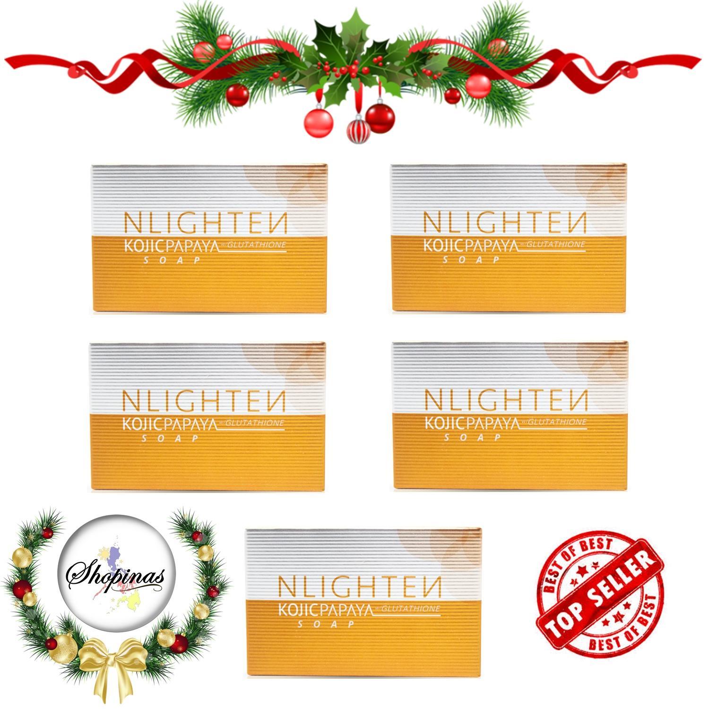 Nlighten Philippines Price List Whitening Soap Cream Sabun Kojic Perpect Papaya With Glutathione 135g Set Of 5
