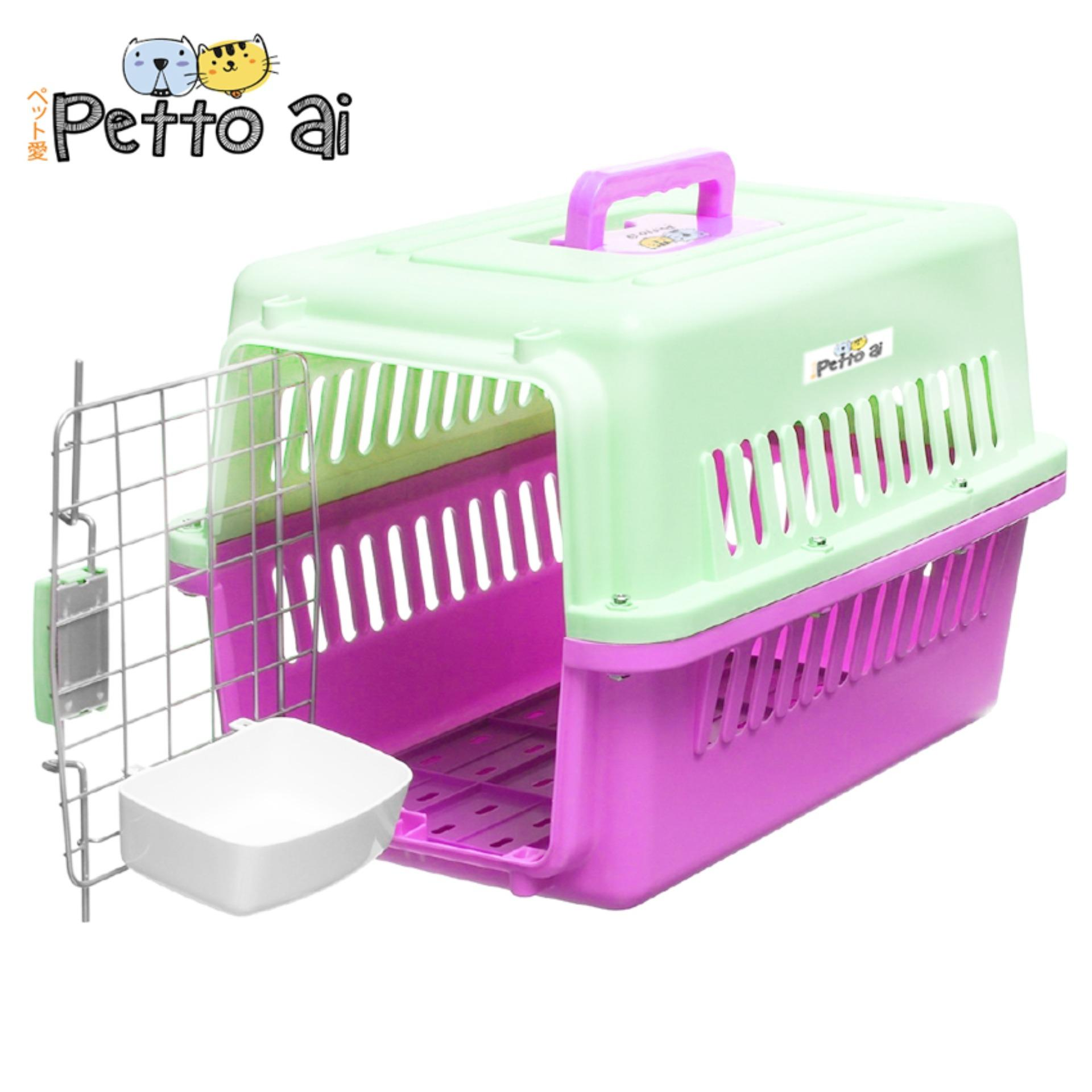 Pet Carrier 1002 Petto Ai Dog Travel Carrier Cage Airline Standard Pet Height Up To 30cm For Small Dog And Cat (white-Pink) By Dreamwest Corporation.