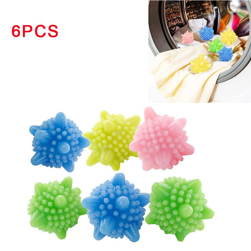 Fancydream 6pcs Colored Detergent Winding Preventing Cleaning Cleaner Magic Laundry Washing Ball Wash Laundry Ball By Fancydream.