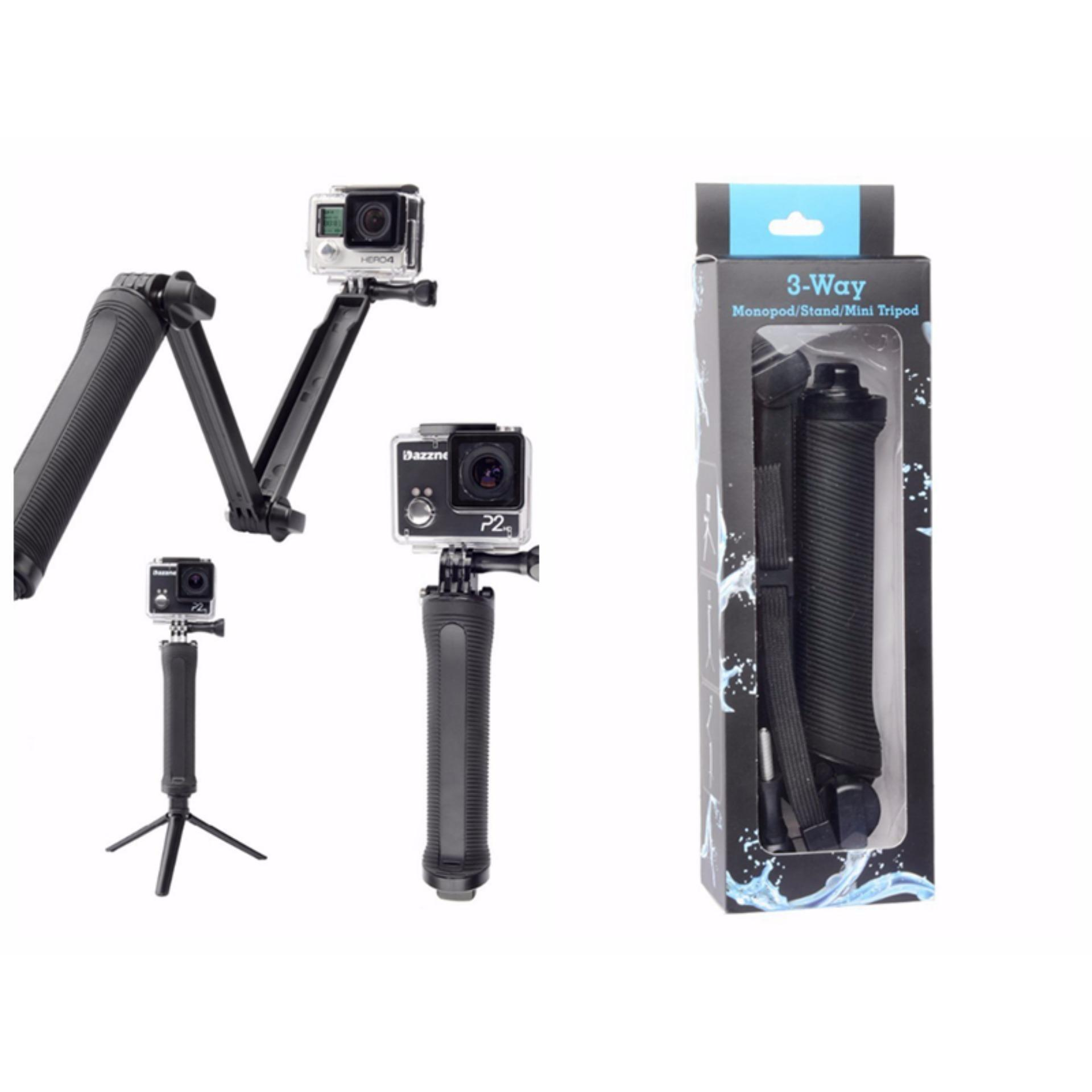 3128d3ec07 GoPro Accessories 20cm Collapsible 3 Way Monopod Mount Camera for Gopro  Hero 4 2 3 3