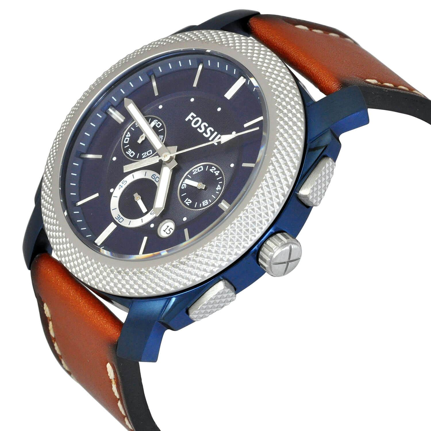 Buy Sell Cheapest Fossil Mens Me3073 Best Quality Product Deals Fs4736 Machine Chronograph Blue Dial Watch Fs5232