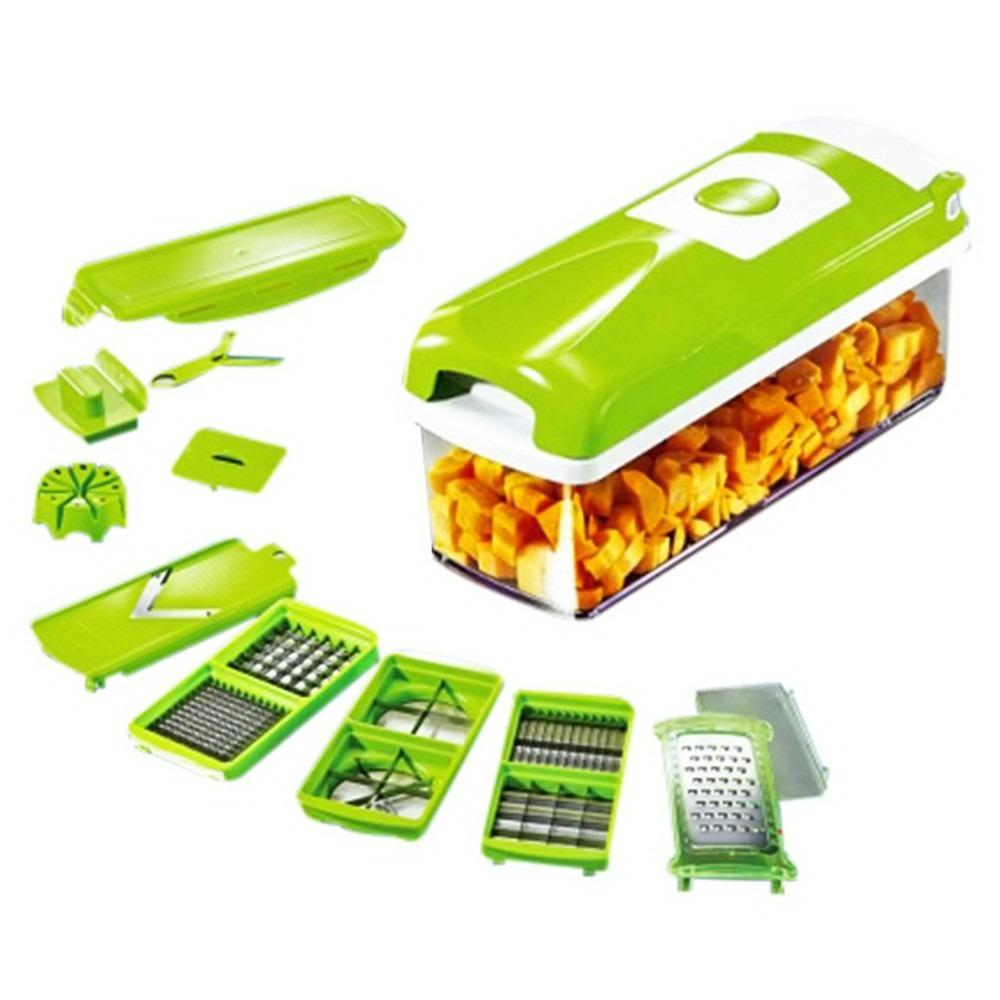 Nicer Dicer Plus Multi-Function Vegetable Fruit Peeler Slicer Cutter Chopper Green By Usje Trading.
