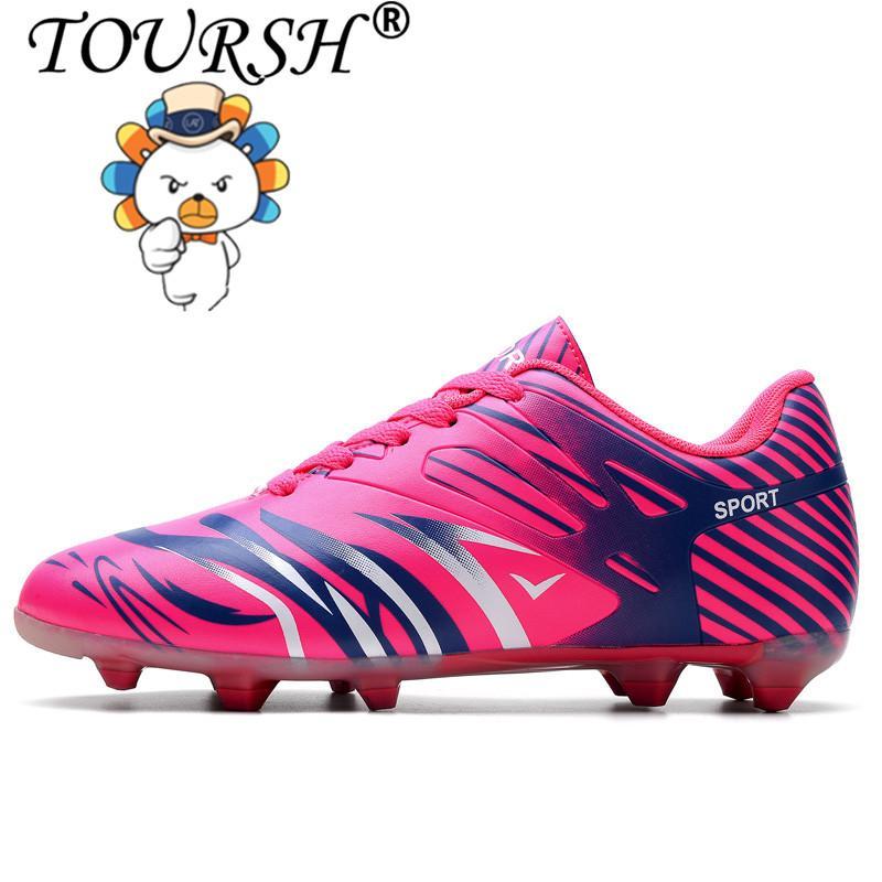 063a9397bd2e TOURSH Size 33-44 Men Boy Kids Soccer Cleats Turf Football Soccer Shoes TF  Hard