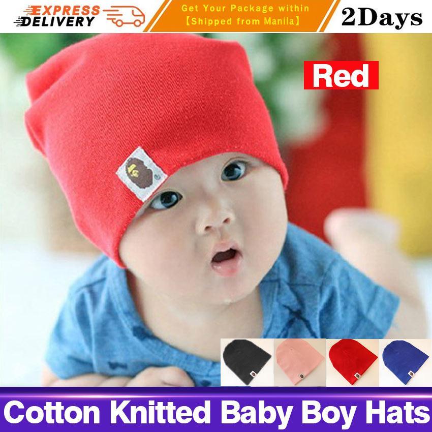 c76193b9388 Baby Hat Kids Newborn Knitted Cap Crochet Solid Children Beanies Boys Girls  Hats Headwear Toddler Caps