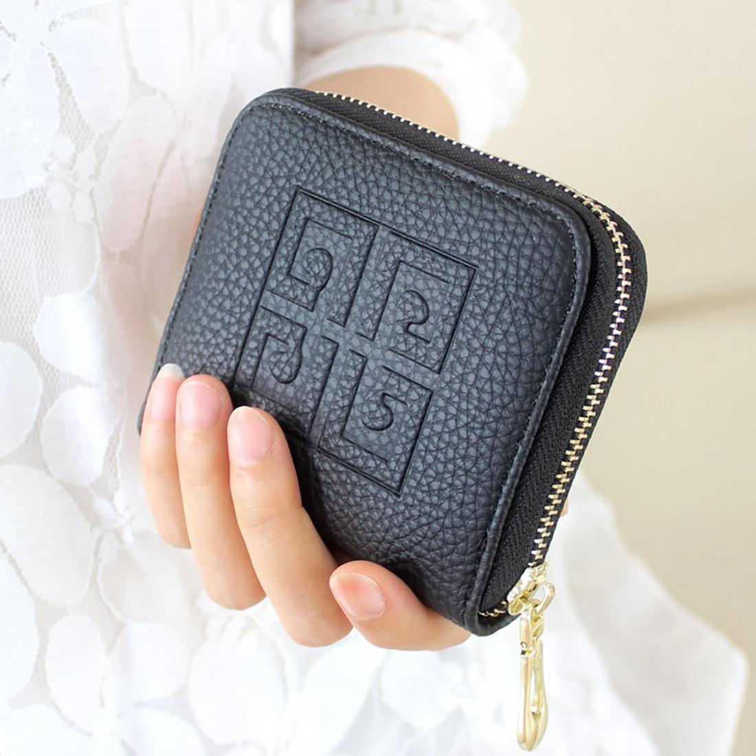 89d1e0c3e25 AMOG Lady mini Wallet Korean version short women Small Change bag zipper bag  hand Bag coin