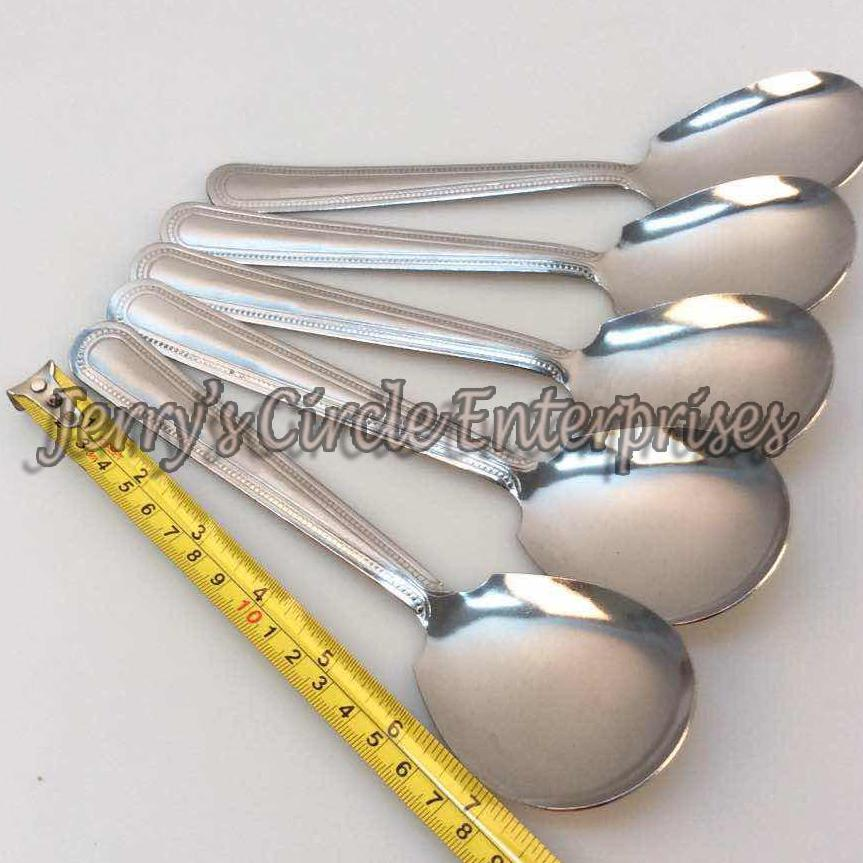 6pcs Metal Serving Spoon / Rice Spoon By Jerry Circle Enterprises.