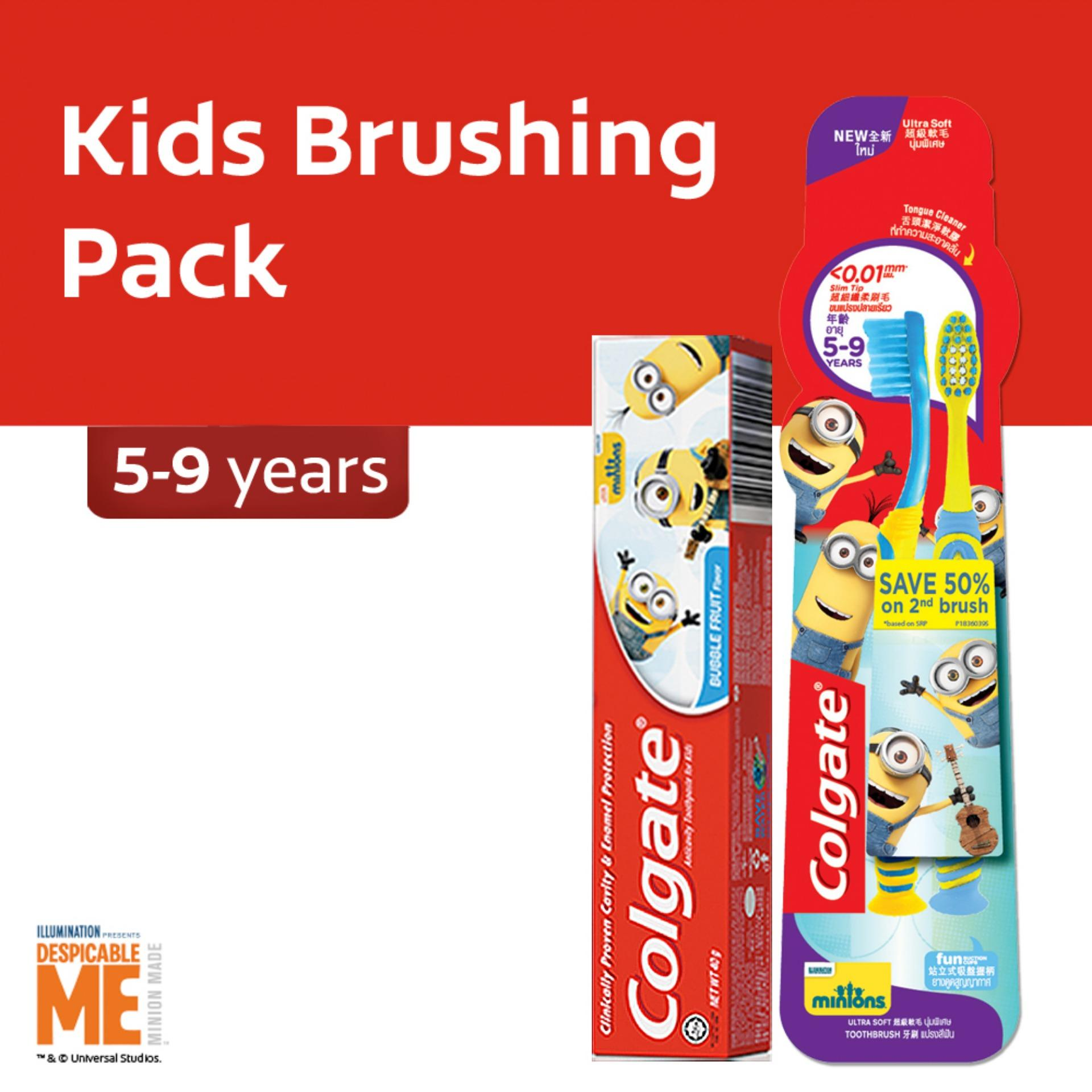 Colgate Minions Kids (5-9 Years Old) Oral Care Pack By Lazada Retail Colgate.