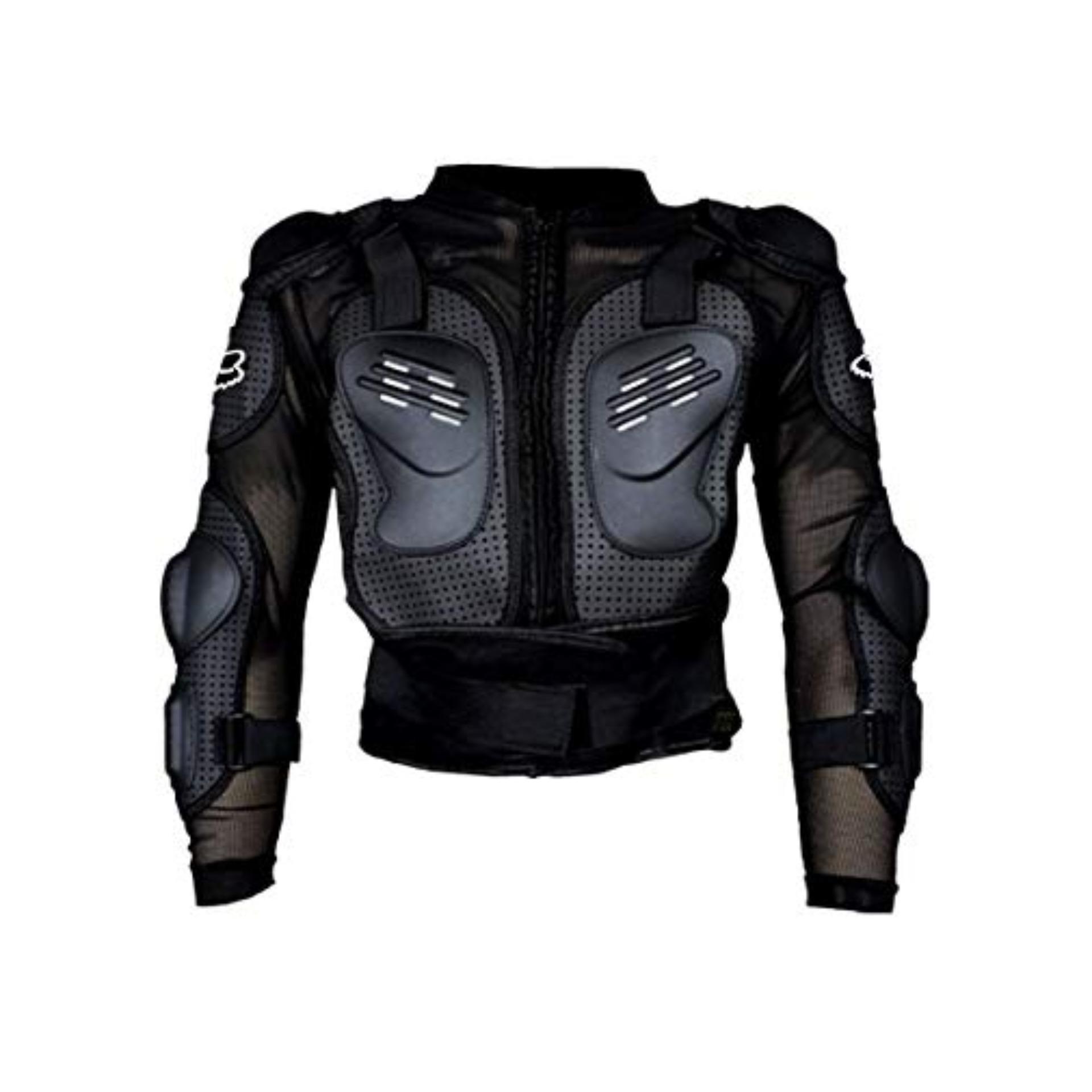 Motorbike Racing Gear Jacket Coat Motorcycle Body Armor Motocross Fox Back  Protector (XL)