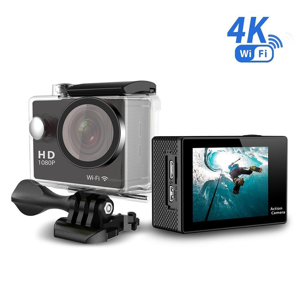 Lhr H9 4k 12mp 2 1080p Ultra Hd Wifi Sports Action Camera Silver Kamera Sport Go Pro Kogan W8 Wi Fi Black