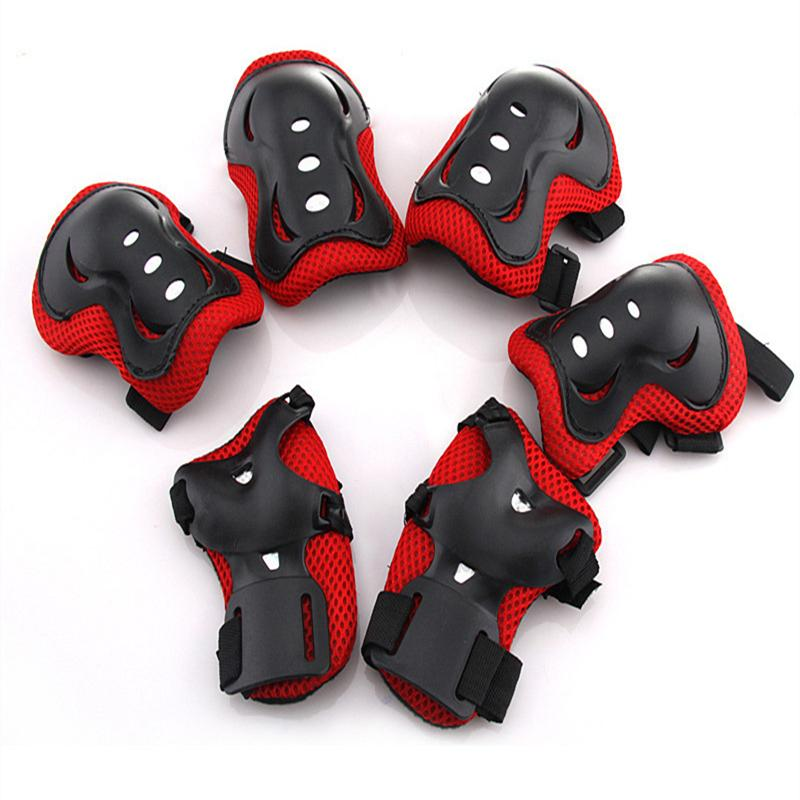 6 Pcs Outdoor Sports Protective Gear Knee Pads Elbow Pads Wrist Guards Roller Skating Safety Protection For Kids By Outdoor Lizard.
