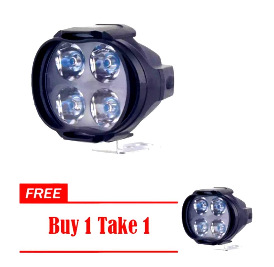 2pcs Tdd-2926 Dc-12v 4 Led Opposite Flash Light Black Cover For Motorcycle Headlight By Motor Access.