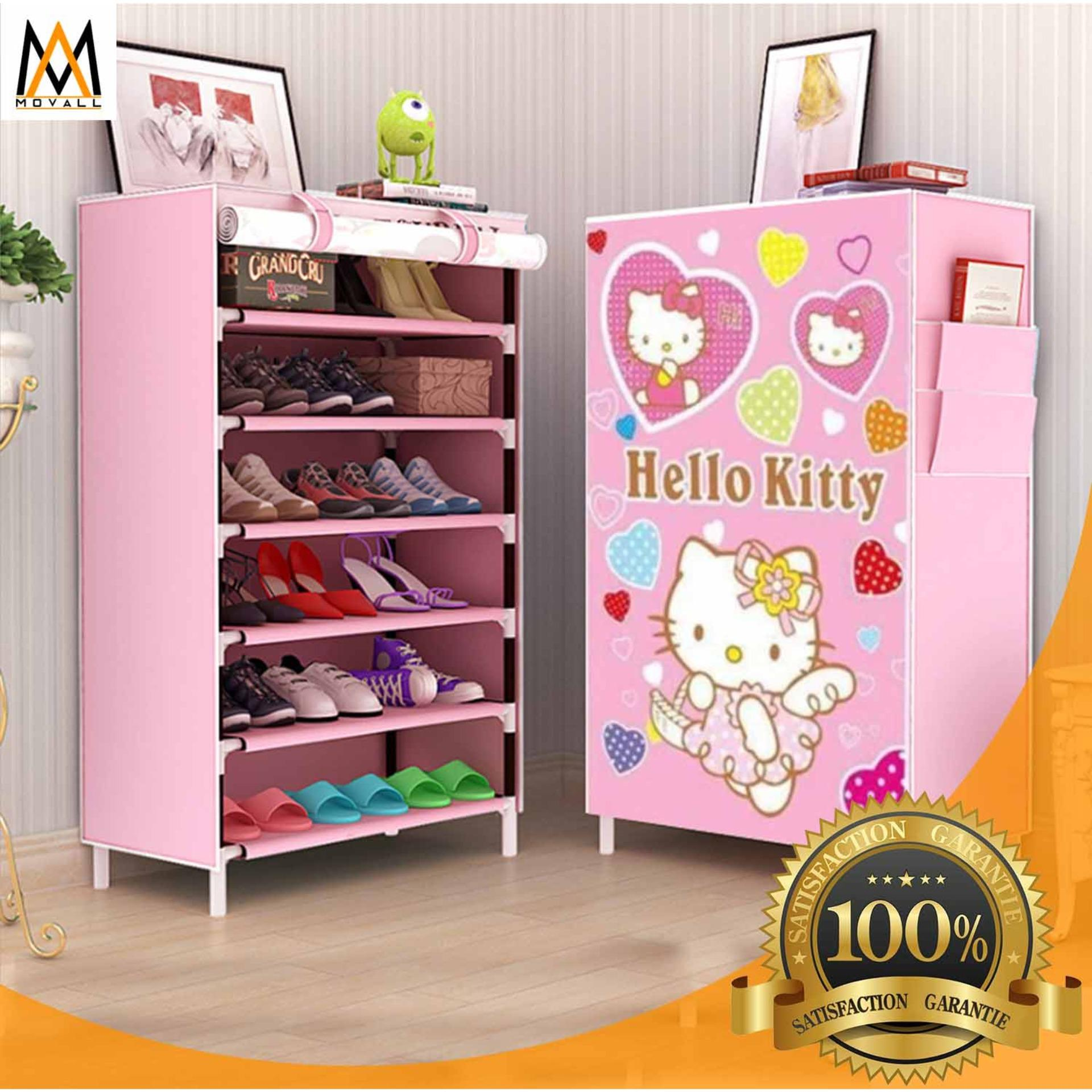 Hk 6 Tier Shoe Rack Storage 8076 (pink) By Movall.