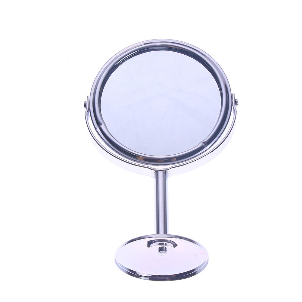 Silver Desk Type Double Side Cosmetic Makeup Mirrors with 1:2 Magnifying Function glass cosmetic mirror Philippines
