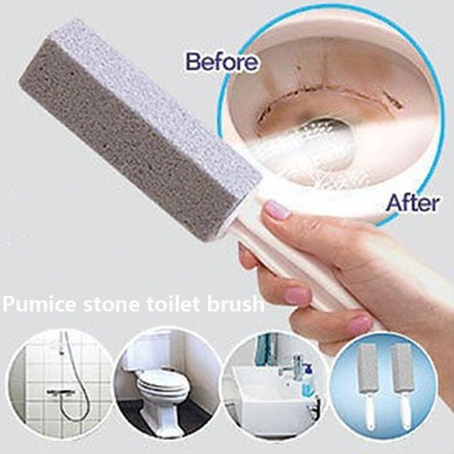 Bonbon Shop Pumice Stone Lot Cleaner Wand Practical Water Toilet Bowl Pumice Stone Cleaner Brush Wand Cleaning Tool By Bonbons Shop.