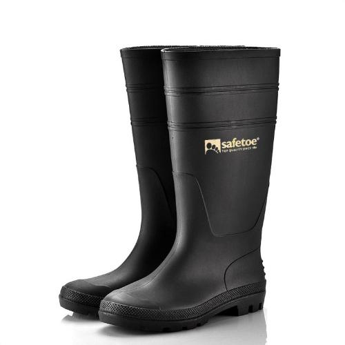 564ef4cd9551 SafeToe Work Boots Rubber Boot Waterproof Rain Tall Boots Foot Protection  without Steel Toe anti lestopirosis