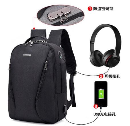 0b51706a62 1001 Men Backpacks Anti-theft Multifunction USB Charging Backpacks 16inch Student  School Backpack Bags for