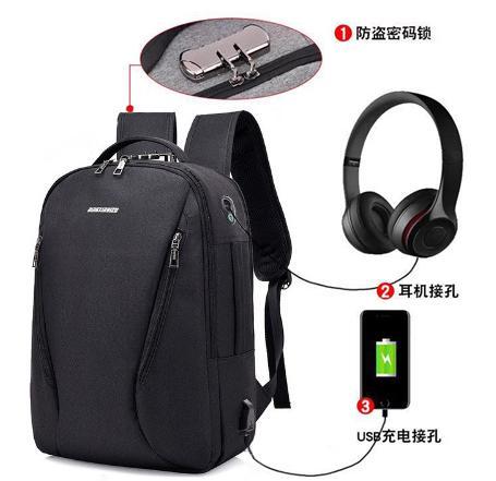 1001 Men Backpacks Anti-theft Multifunction USB Charging Backpacks 16inch  Student School Backpack Bags for fba6366fe3257