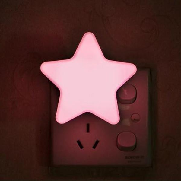 Automatic LED Star Night Light Plug In Energy Saving Light Dark Sensor Lamp cc61892a5