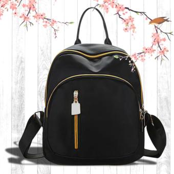 UISN MALL Korean Black Backpack Waterproof Bag #705
