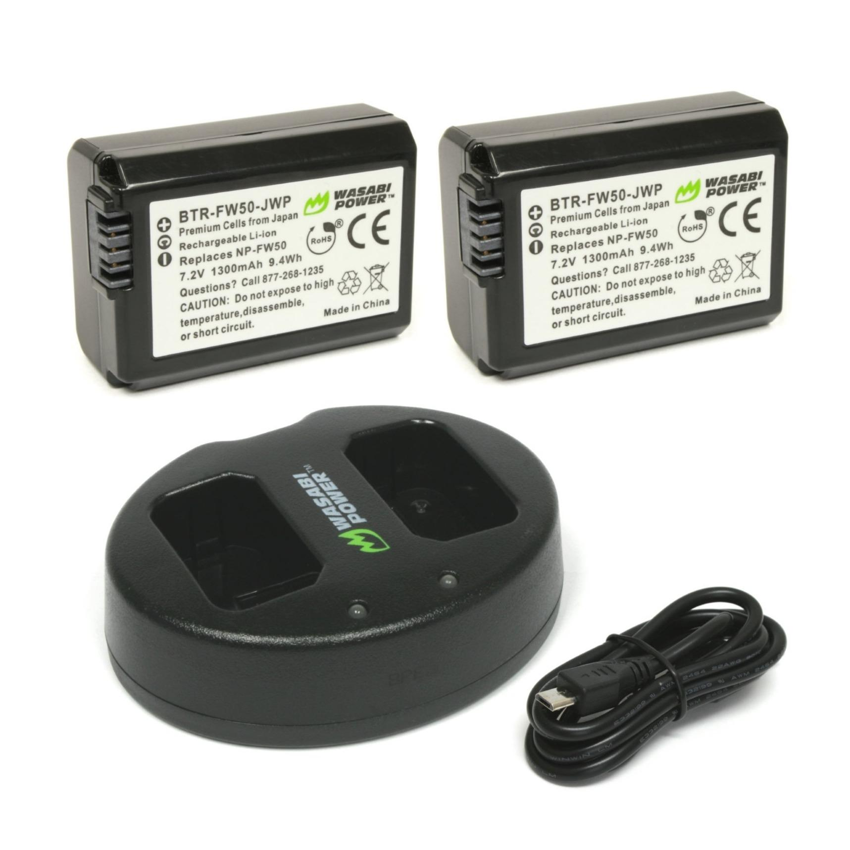 Camera Battery For Sale Digital Prices Brands Vw Rebel Wiring Harness Wasabi Power Sony Np Fw50 2 Pack And Dual Charger Npfw50