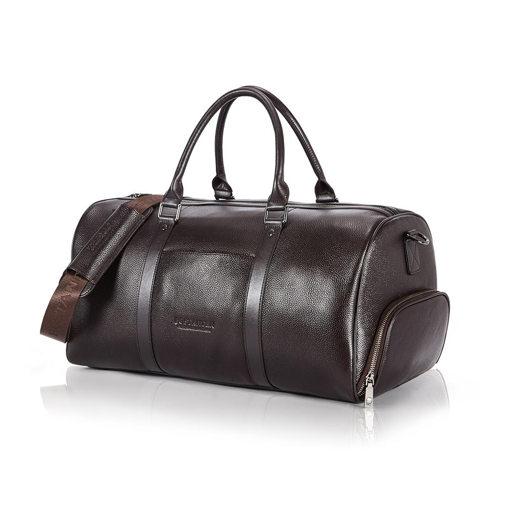 BOSTANTEN Genuine Cowhide Leather Travel Weekender Overnight Duffel Bag Luggage Bags For Men Travel Bags For