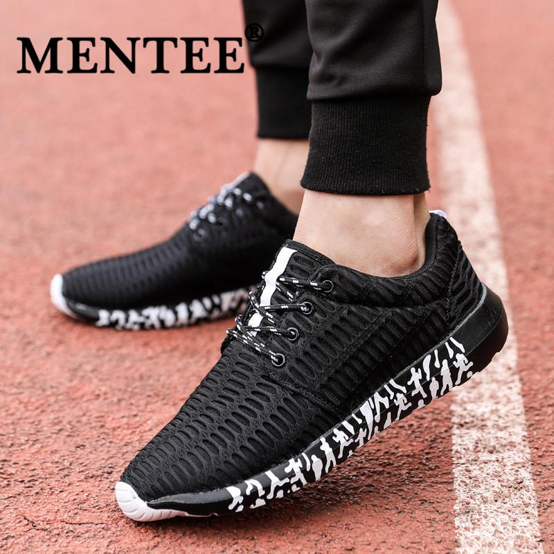 27f3b8504c35 MENTEE Size 39-47 Men Light Running Shoes Breathable Outdoor Casual Shoes