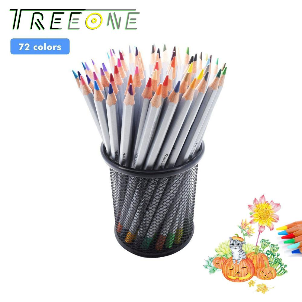 72 Color Marco Profesional Oil Soft Core Premier Assorted Colored Pencils Scholar Homework Wooden Sharpened Drawing