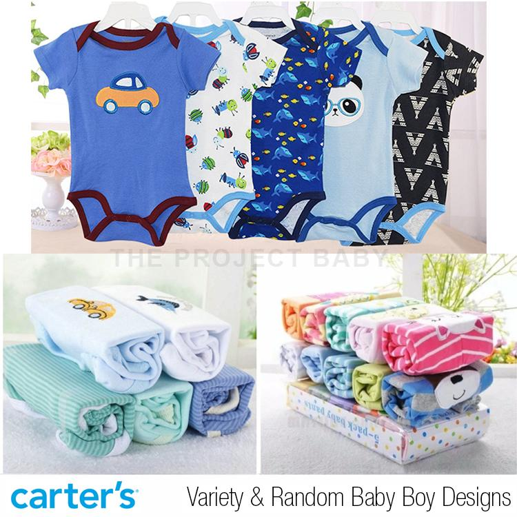 91a8ab6d783 5 pcs set Carter s bluefly bodysuits onesies 100% cotton baby romper infant  (boy)